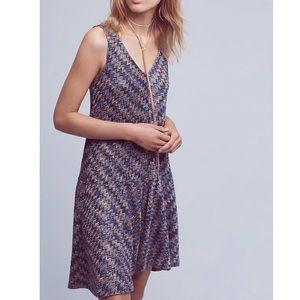 Anthropologie Maeve Zig Zag Knit Tank Dress